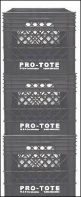 Pro-Tote can be used as stackable storage containers